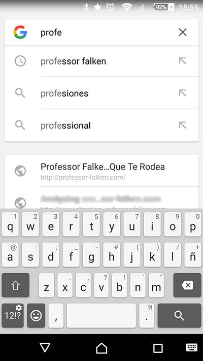 Comment supprimer vos récentes recherches sur Google sur votre téléphone mobile Android - Image 2 - Professor-falken.com