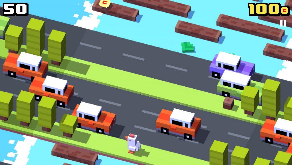 Crossy Road, eine moderne Version des Spiels am Frosch beim Überqueren der Straße - Bild 1 - Prof.-falken.com