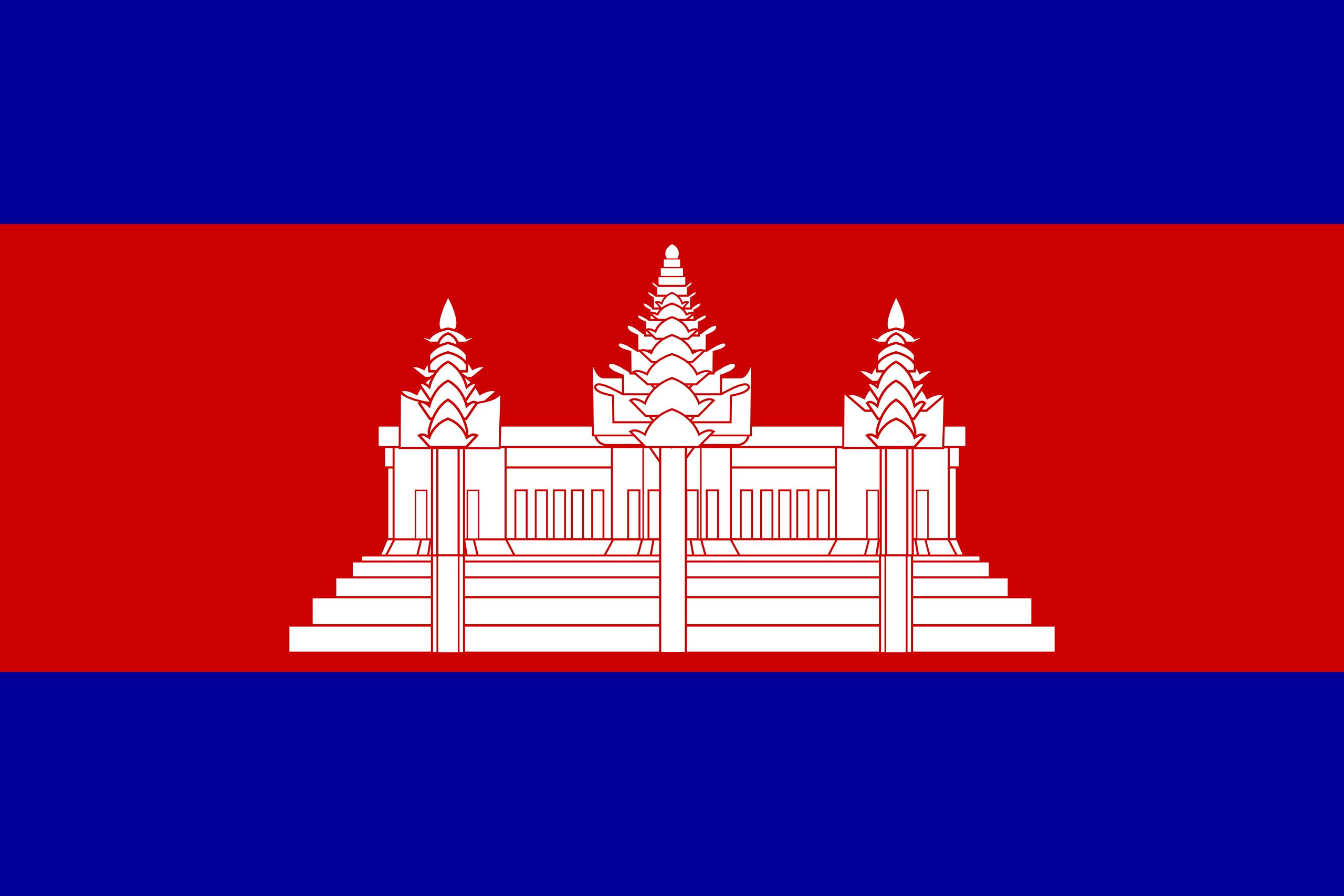 Camboja, país, Brasão de armas, logotipo, símbolo - Papéis de parede HD - Professor-falken.com