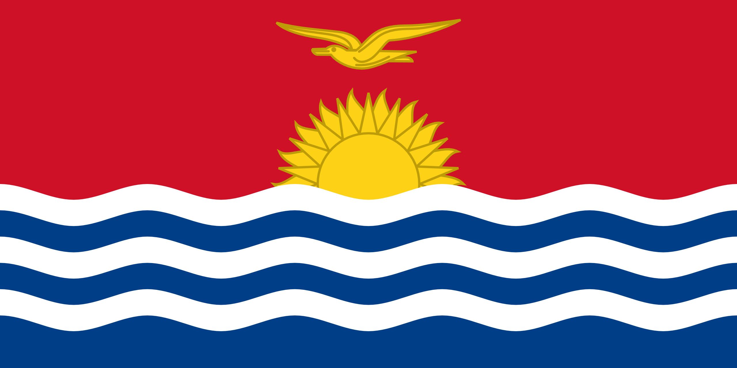 Kiribati, país, Brasão de armas, logotipo, símbolo - Papéis de parede HD - Professor-falken.com