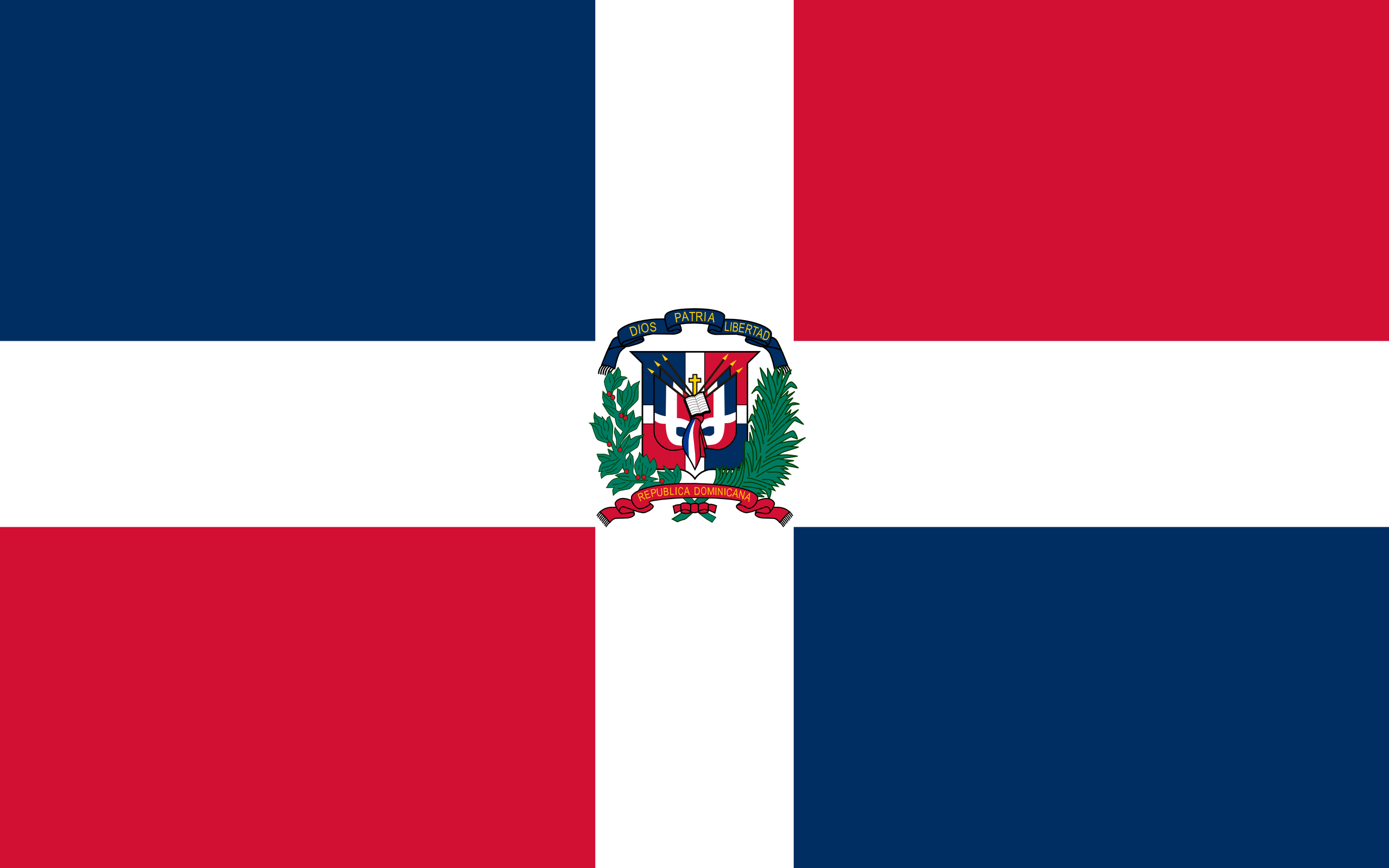 república dominicana, país, emblema, insignia, símbolo - Fondos de Pantalla HD - professor-falken.com