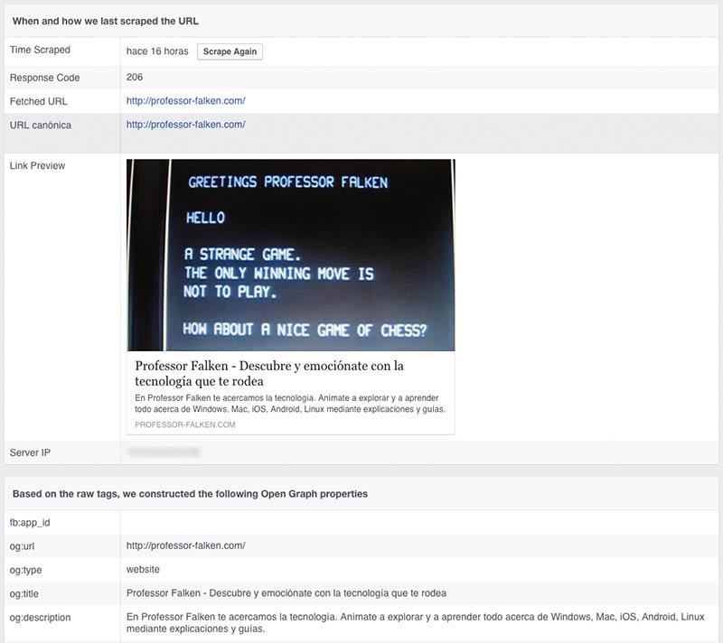 Πώς να καθαρίσει ή να ενημερώσετε το χώρο προσωρινής αποθήκευσης από μια διεύθυνση URL που έχετε κοινοποιήσει στο Facebook - Εικόνα 2 - Professor-falken.com