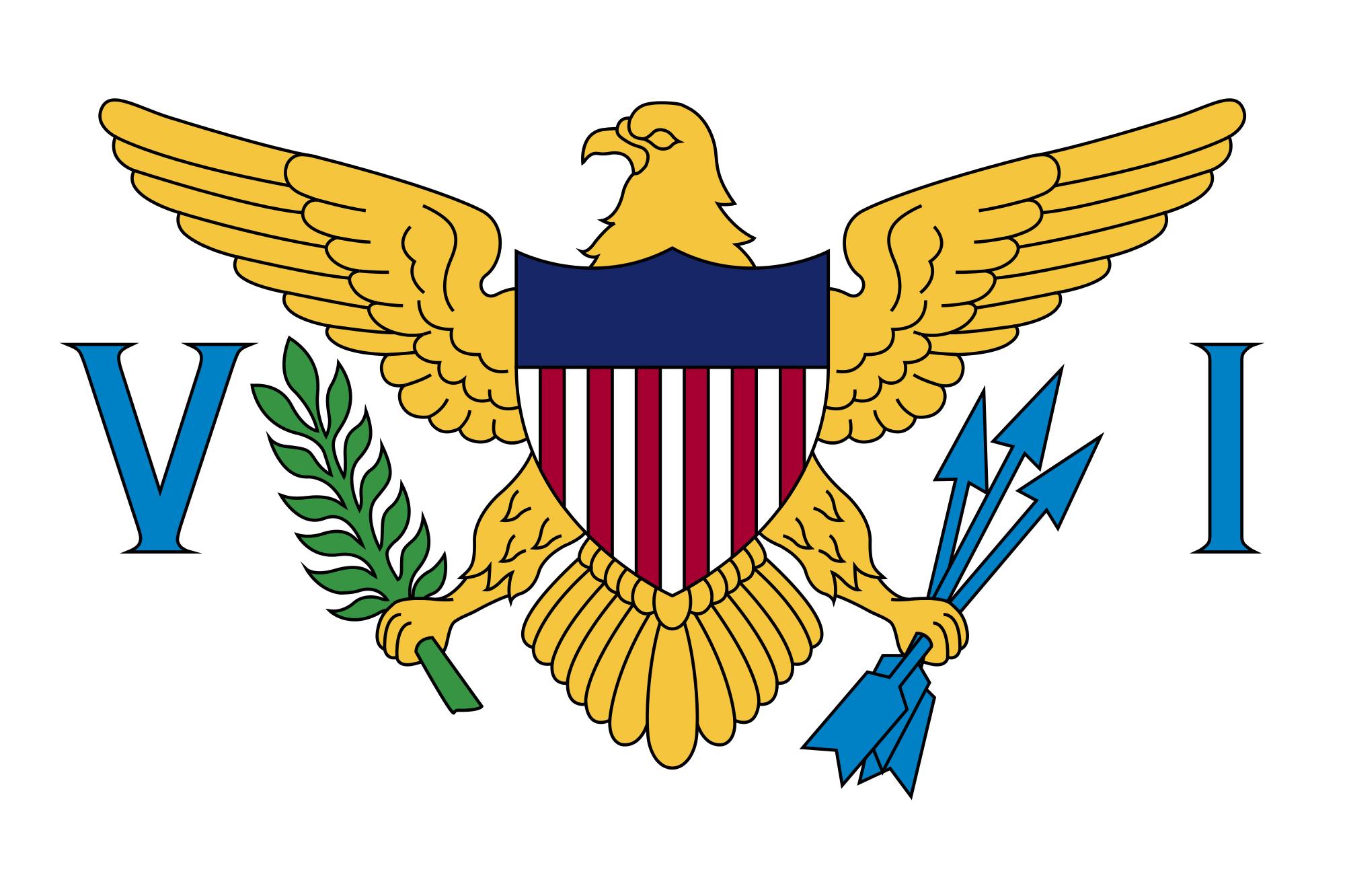 islas virgenes estadounidenses, paese, emblema, logo, simbolo - Sfondi HD - Professor-falken.com