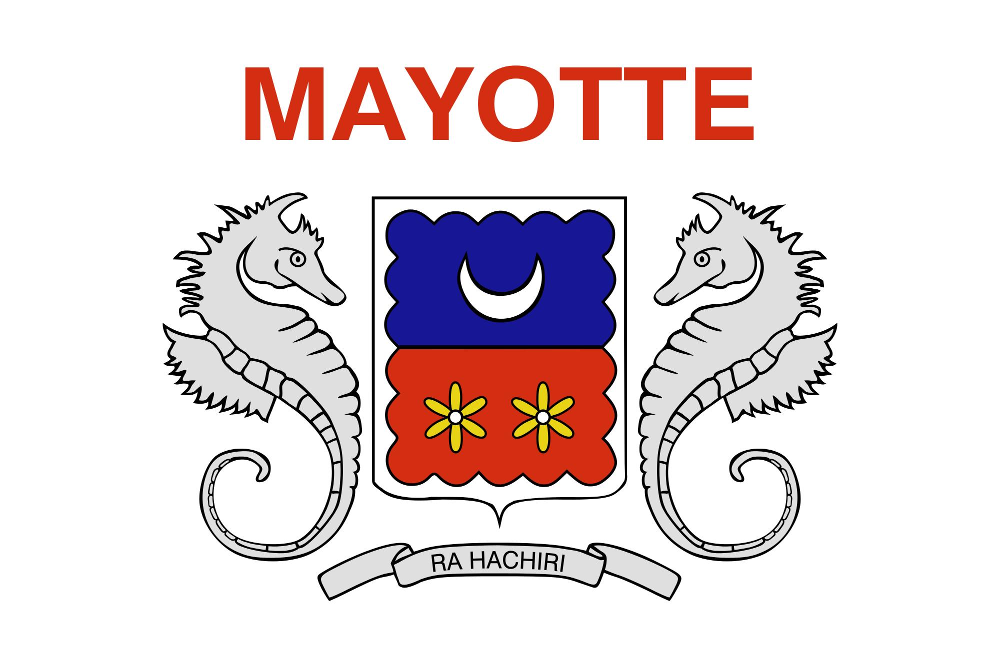 Mayotte, país, Brasão de armas, logotipo, símbolo - Papéis de parede HD - Professor-falken.com