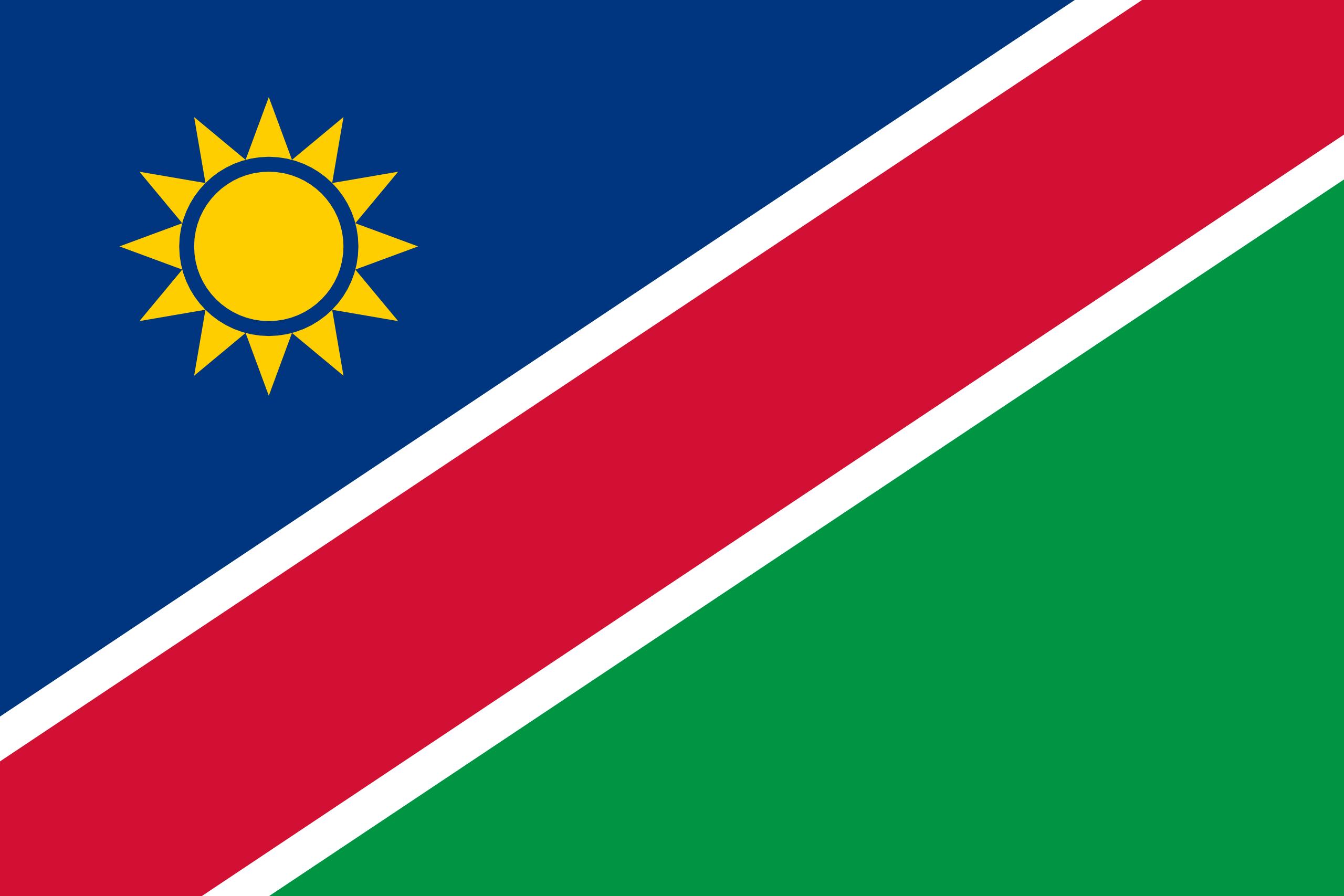 Namíbia, país, Brasão de armas, logotipo, símbolo - Papéis de parede HD - Professor-falken.com