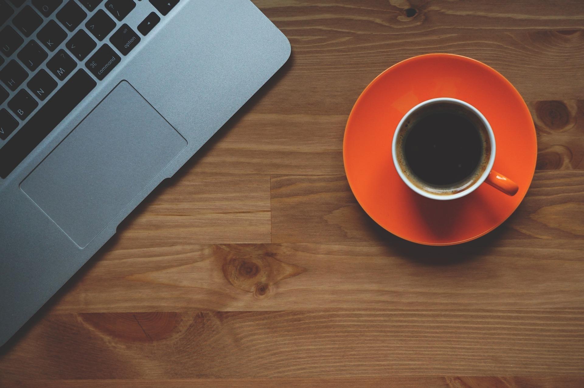 Xícara de café, computador, Portable, MacBook, Escritório, café - Papéis de parede - Professor-falken.com