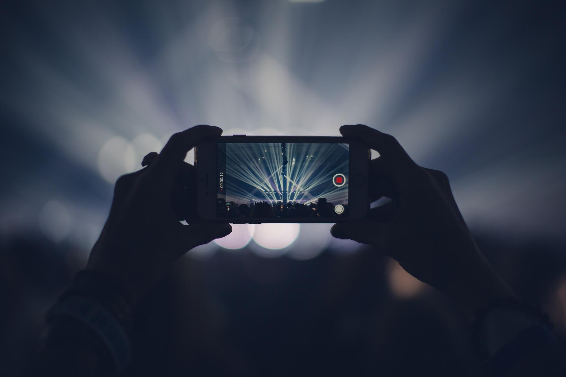 concert, Parti, Mobile, lumières, souvenirs, vidéo, enregistrement - Fonds d'écran HD - Professor-falken.com