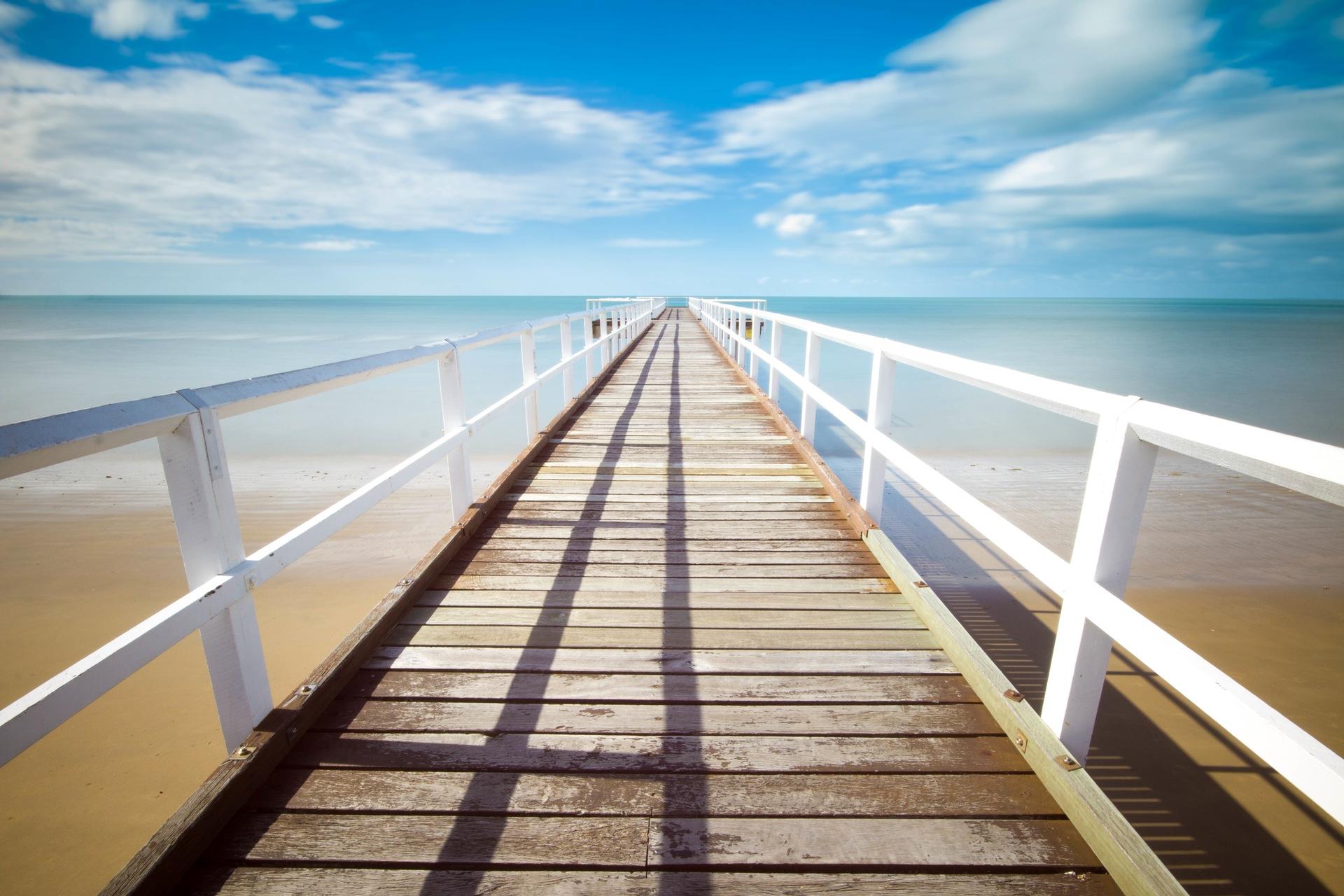 Эмбаркадеро, Пляж, Лето, расслабиться, Небо, Море, воды, Синий - Обои HD - Профессор falken.com