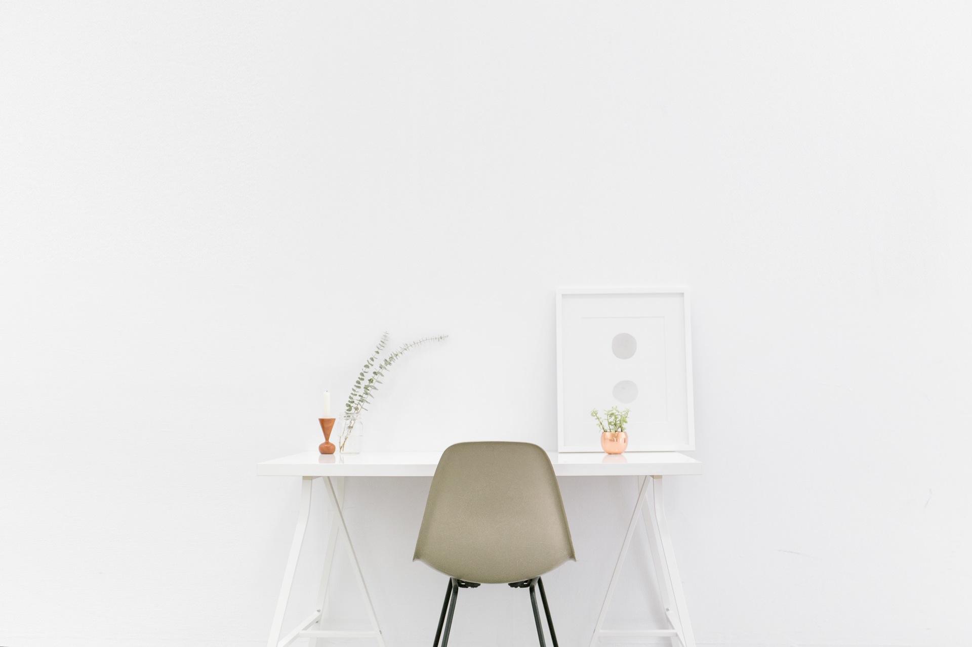 Schreibtisch, Zimmer, Büro, Stuhl, Wand, Weiß - Wallpaper HD - Prof.-falken.com