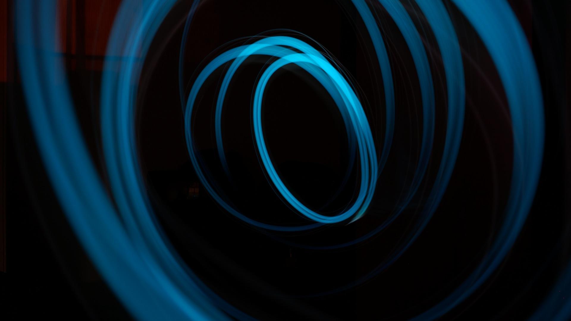 luces, oscuridad, líneas, arte, azul - Fondos de Pantalla HD - professor-falken.com