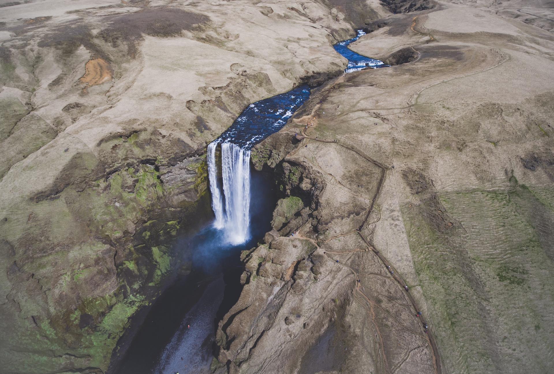 川, 白内障, 滝, 水, アイスランド - HD の壁紙 - 教授-falken.com