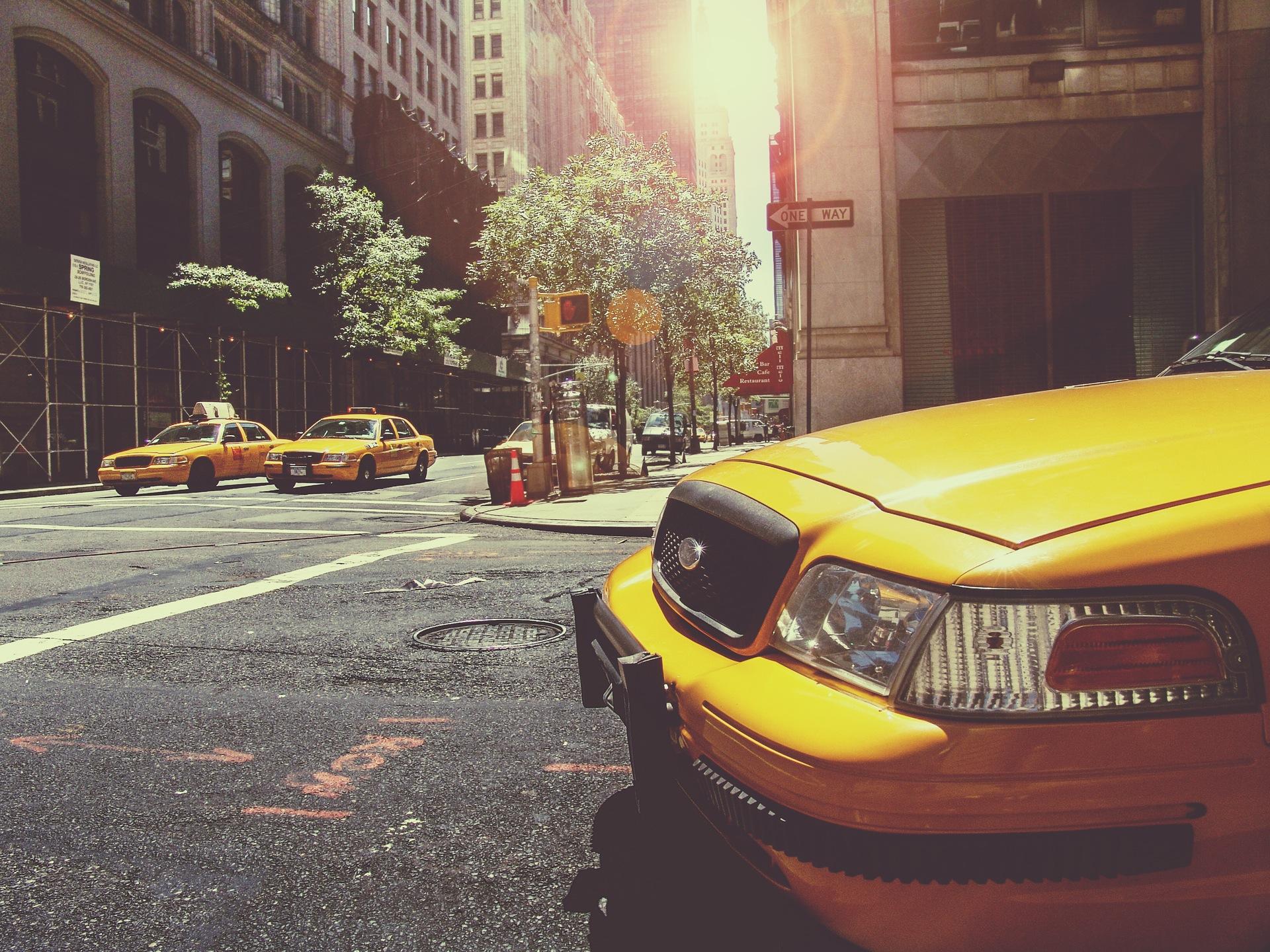 taxi, nueva york, coche, calle, ciudad, amarillo - Fondos de Pantalla HD - professor-falken.com