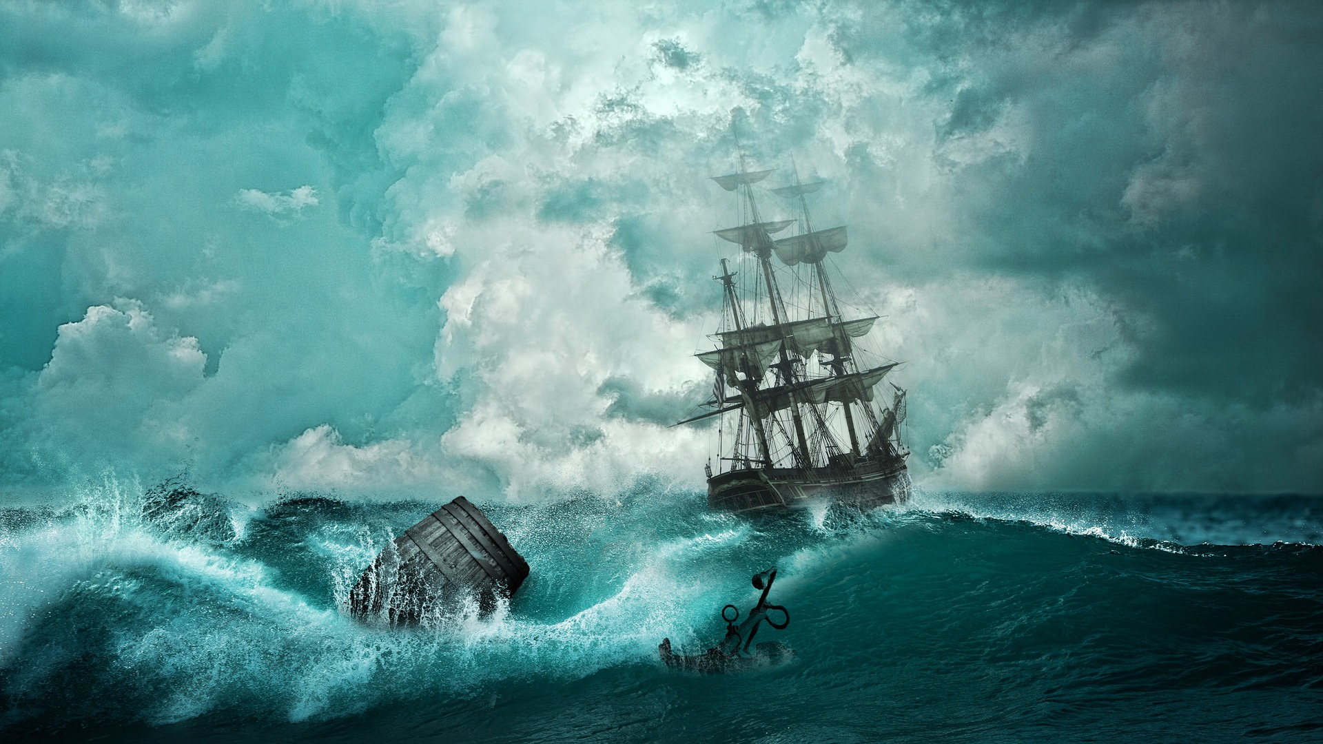船, naufragio, ボート, 海, 冒険, テンペスト, アンカー - HD の壁紙 - 教授-falken.com