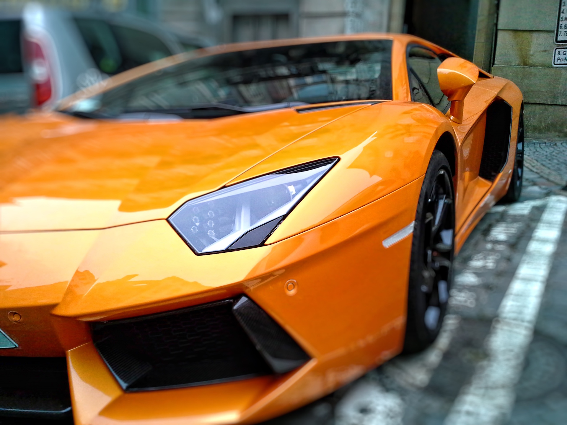 Auto, Lamborghini, Luxus, Sport, Orange - Wallpaper HD - Prof.-falken.com