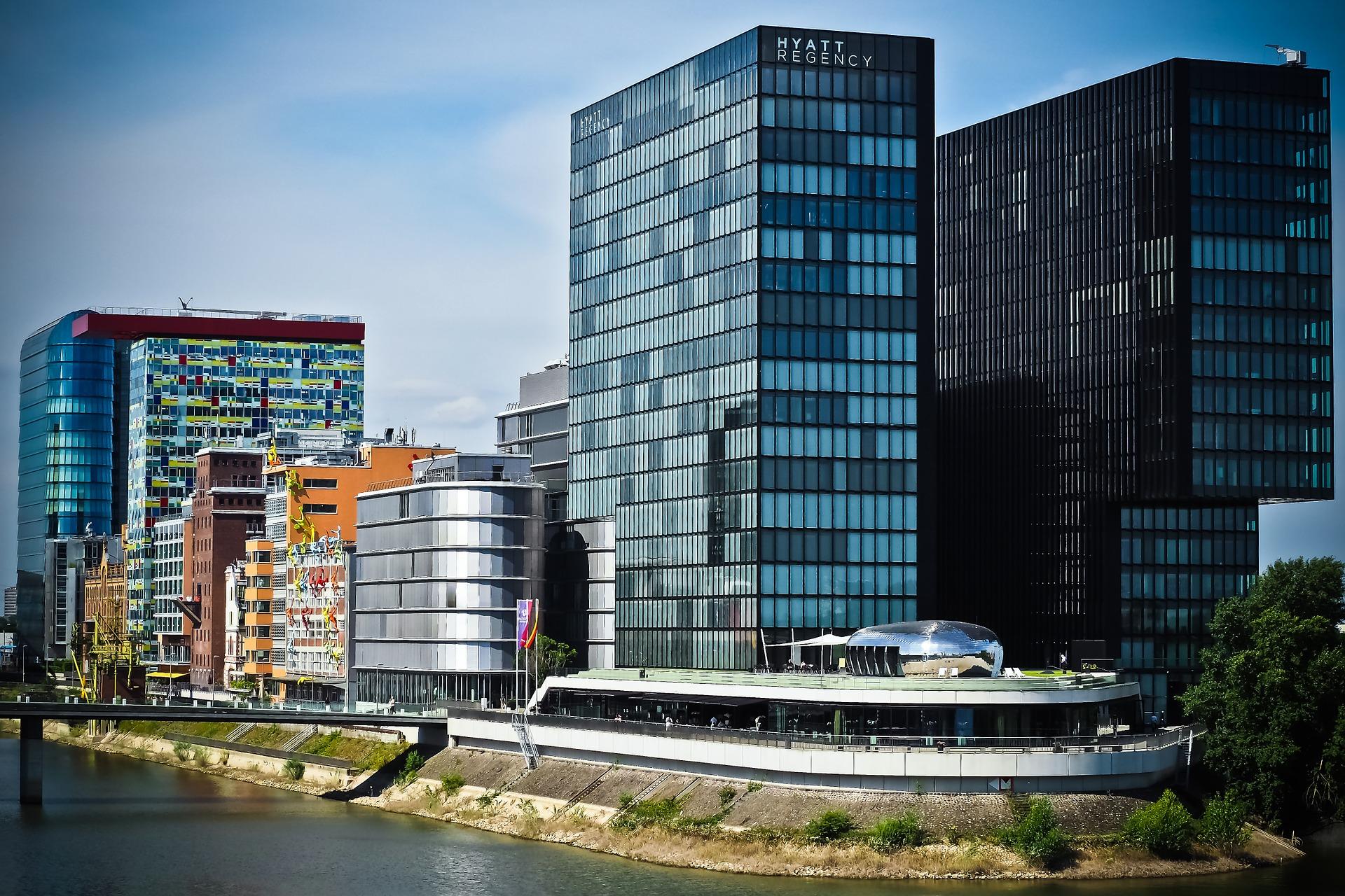 इमारतें, शहर, वास्तुकला, पोर्ट, डसेलडोर्फ - HD वॉलपेपर - प्रोफेसर-falken.com