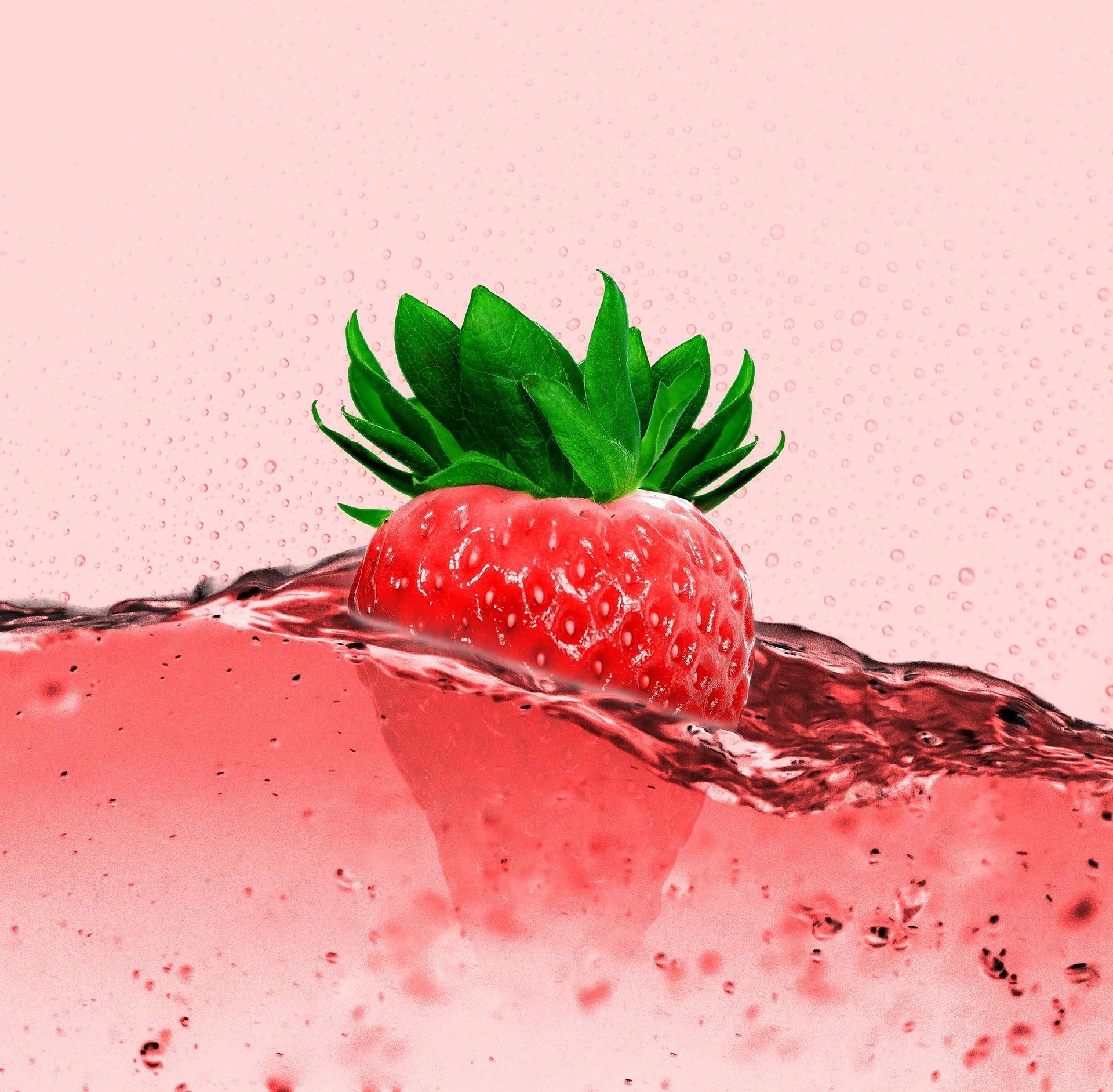 Fragola, succo di frutta, bere, frutta, bolle, Rosso - Sfondi HD - Professor-falken.com