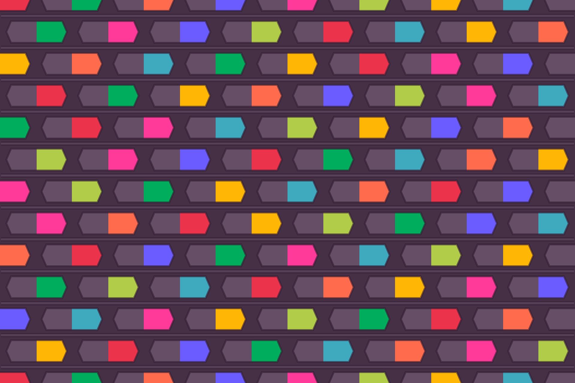 γεωμετρία, χρώματα, γεωμετρικό, Μπλε, Κίτρινο - Wallpapers HD - Professor-falken.com