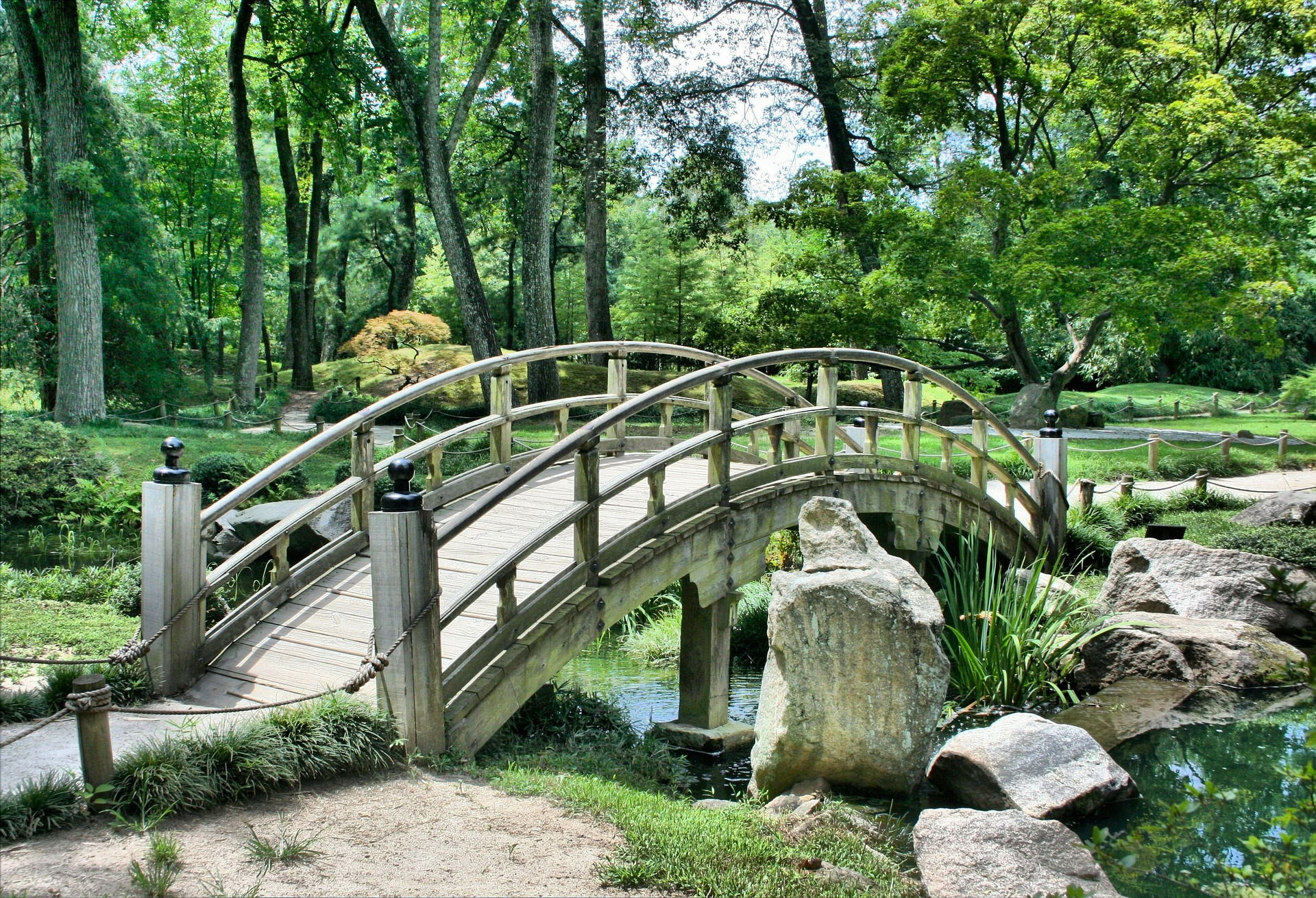 Japanischer Garten, Brücke, Rest, Entspannen Sie sich, Meditation - Wallpaper HD - Prof.-falken.com