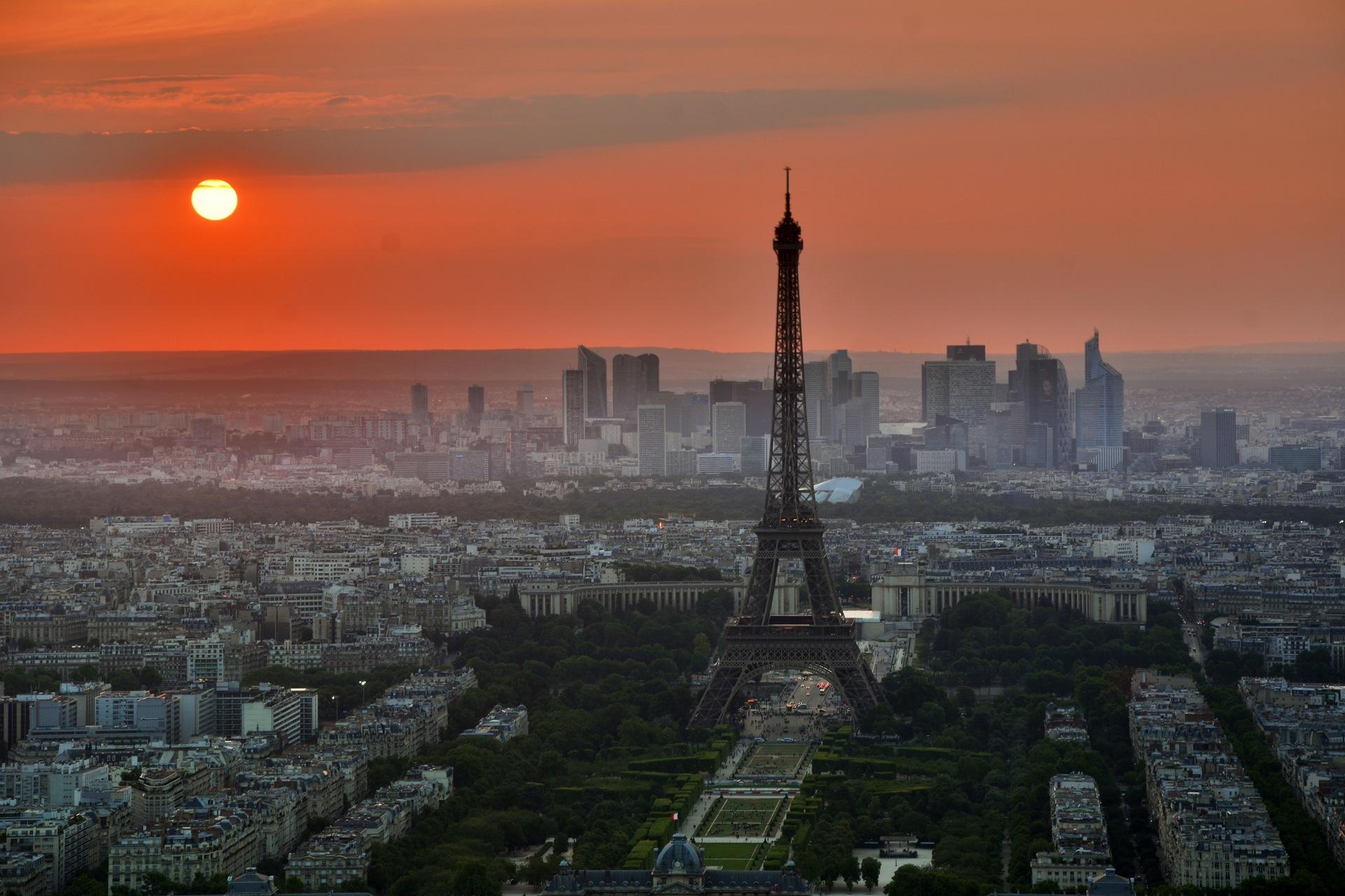 Paris, Eiffelturm, Sonne, Stadt, Frankreich - Wallpaper HD - Prof.-falken.com