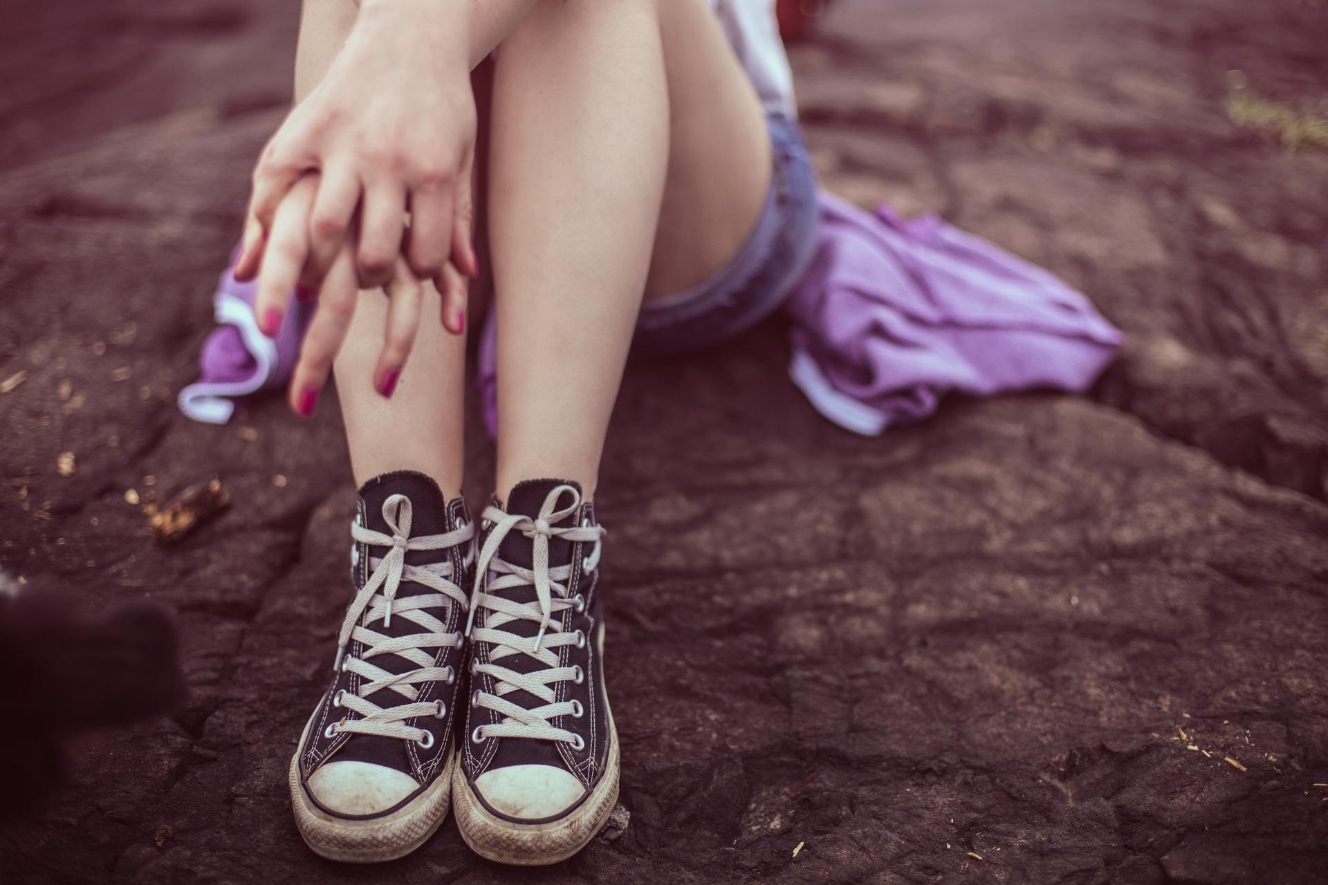 gambe, scarpe, Abito, donna, imposta, CONVERSE - Sfondi HD - Professor-falken.com