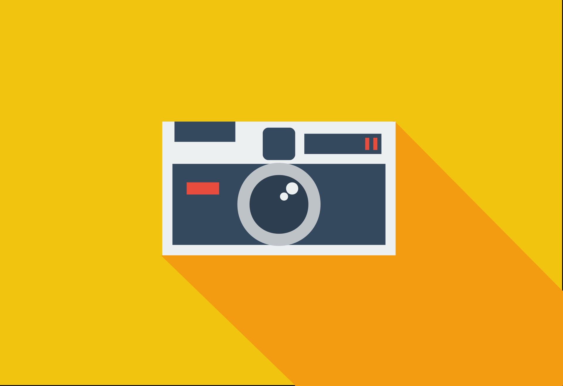 cámara, fotografía, flat design, diseño plano, amarillo - Fondos de Pantalla HD - professor-falken.com