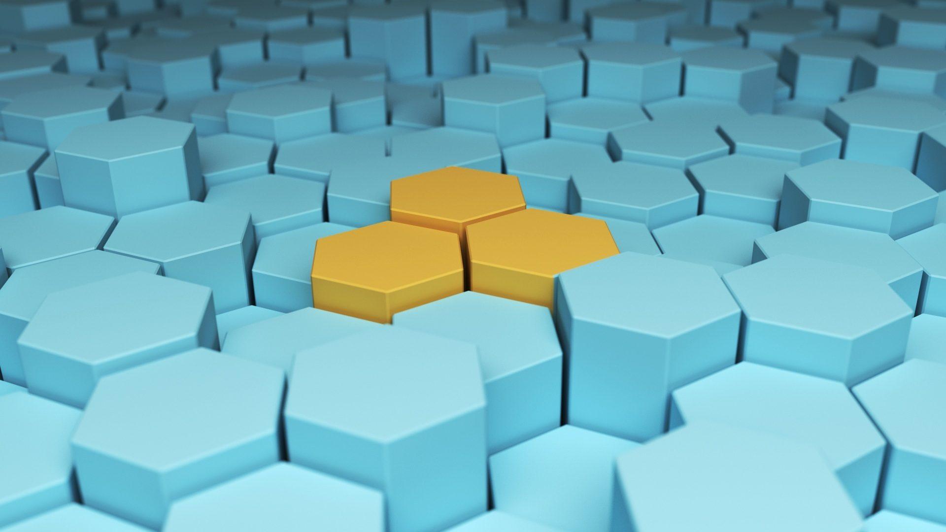 εξάγωνα, διάκριση, Τρίο, χρώματα, Κίτρινο - Wallpapers HD - Professor-falken.com