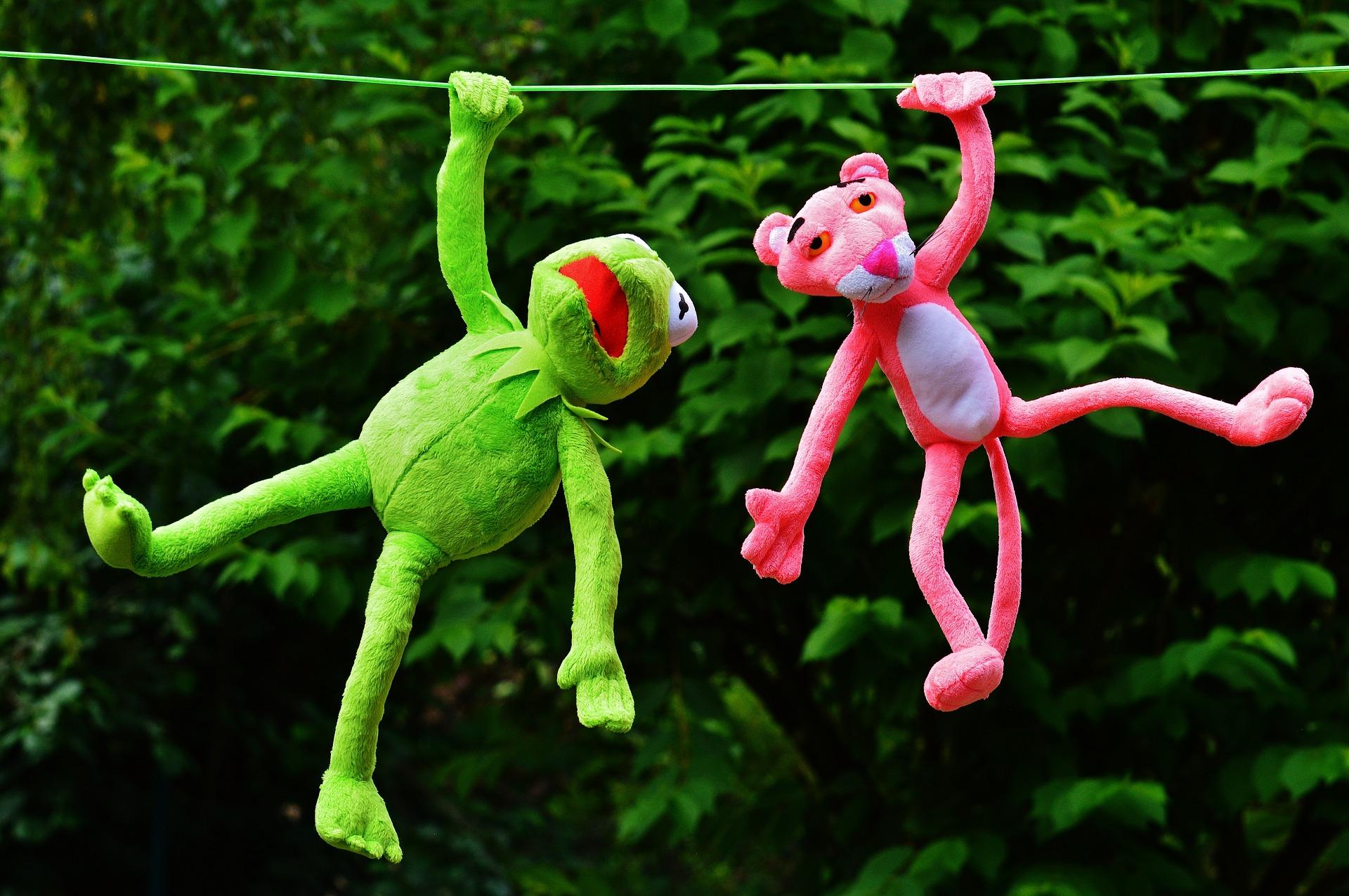 おもちゃ, プラシ天のおもちゃ, グスタボ, ピンクの豹, カーミット, ハング - HD の壁紙 - 教授-falken.com