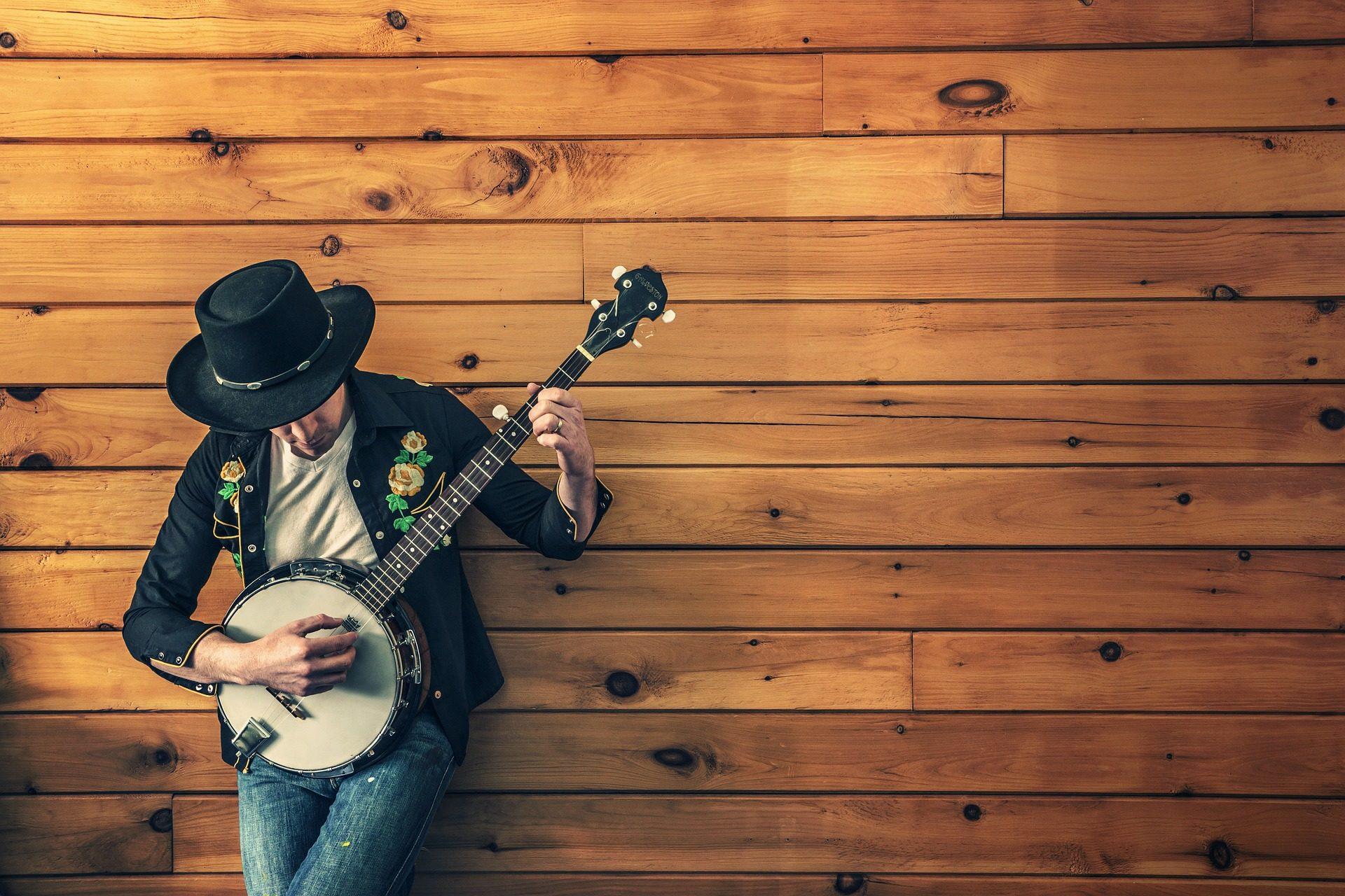 músico, banjo, Guitarra, Chapéu, país - Papéis de parede HD - Professor-falken.com