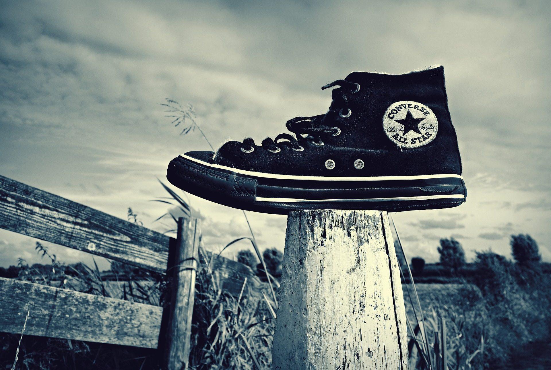 παπούτσι, θέση, Soledad, Converse, σε μαύρο και άσπρο - Wallpapers HD - Professor-falken.com
