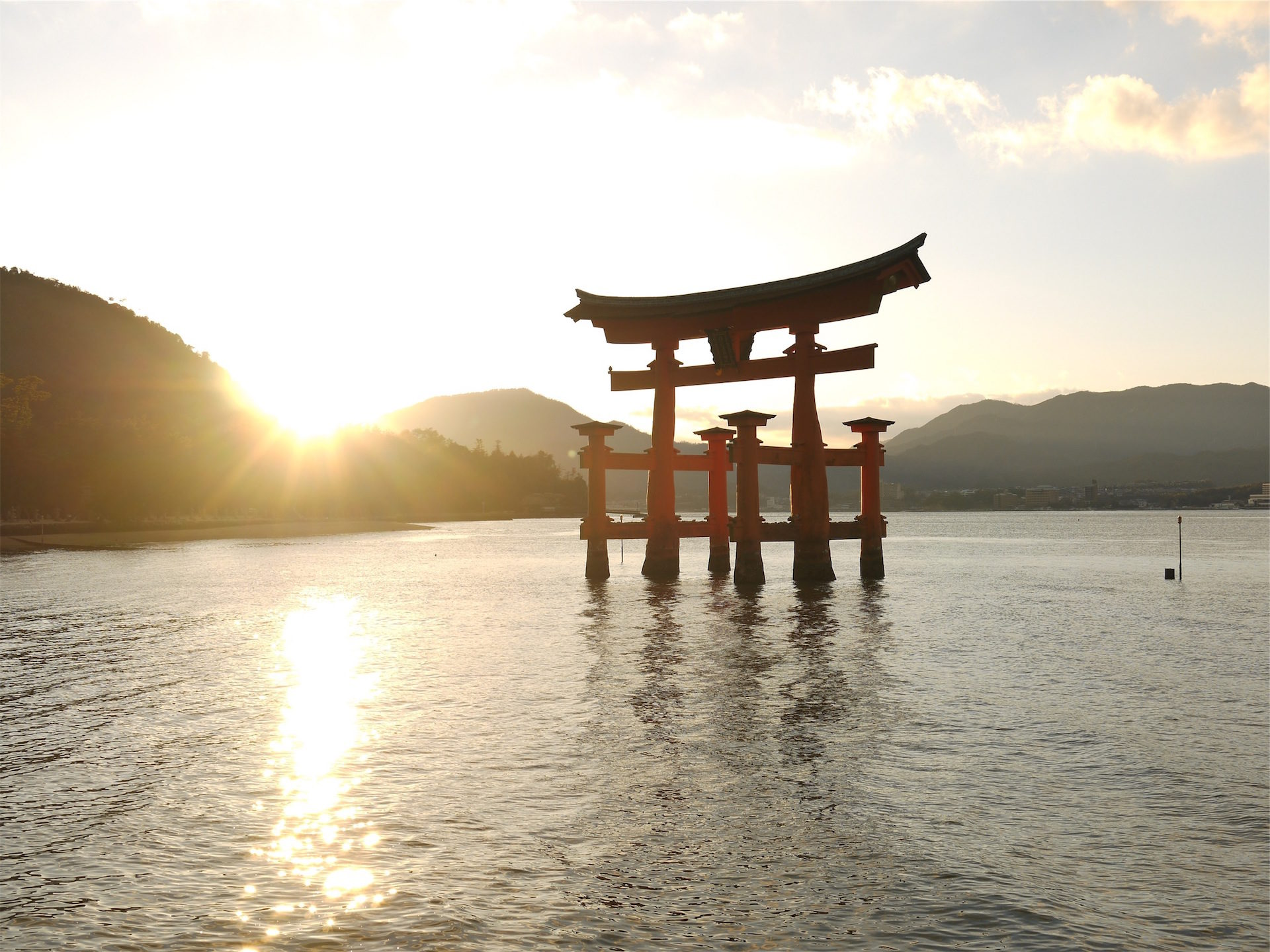 Lake, sculpture, Japon, Sun, en hausse - Fonds d'écran HD - Professor-falken.com