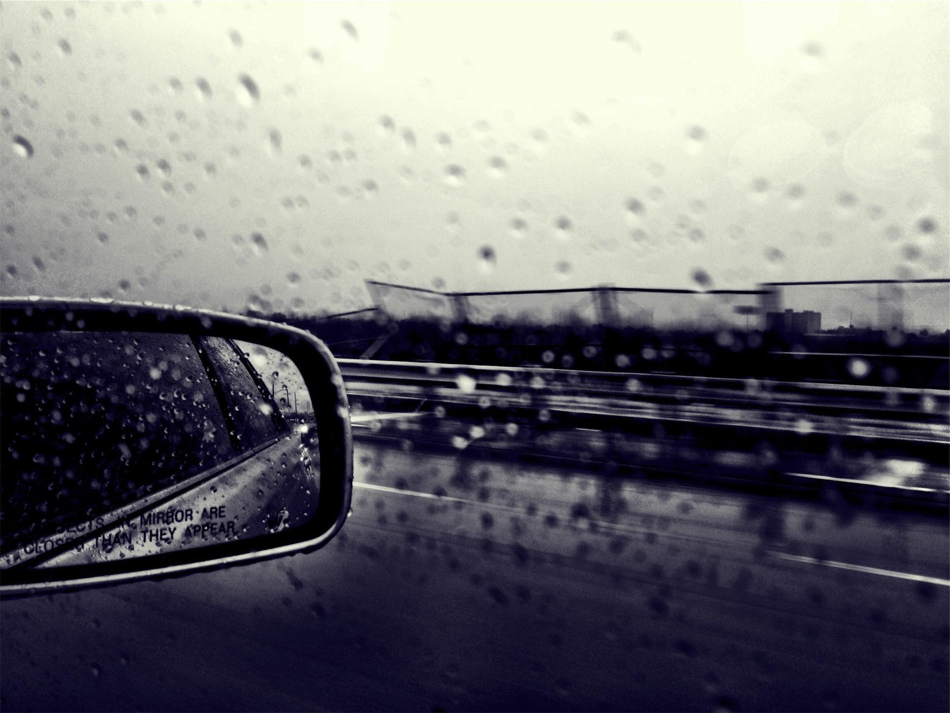 lluvia, viaje, gotas, reflejo, en blanco y negro - Fondos de Pantalla HD - professor-falken.com