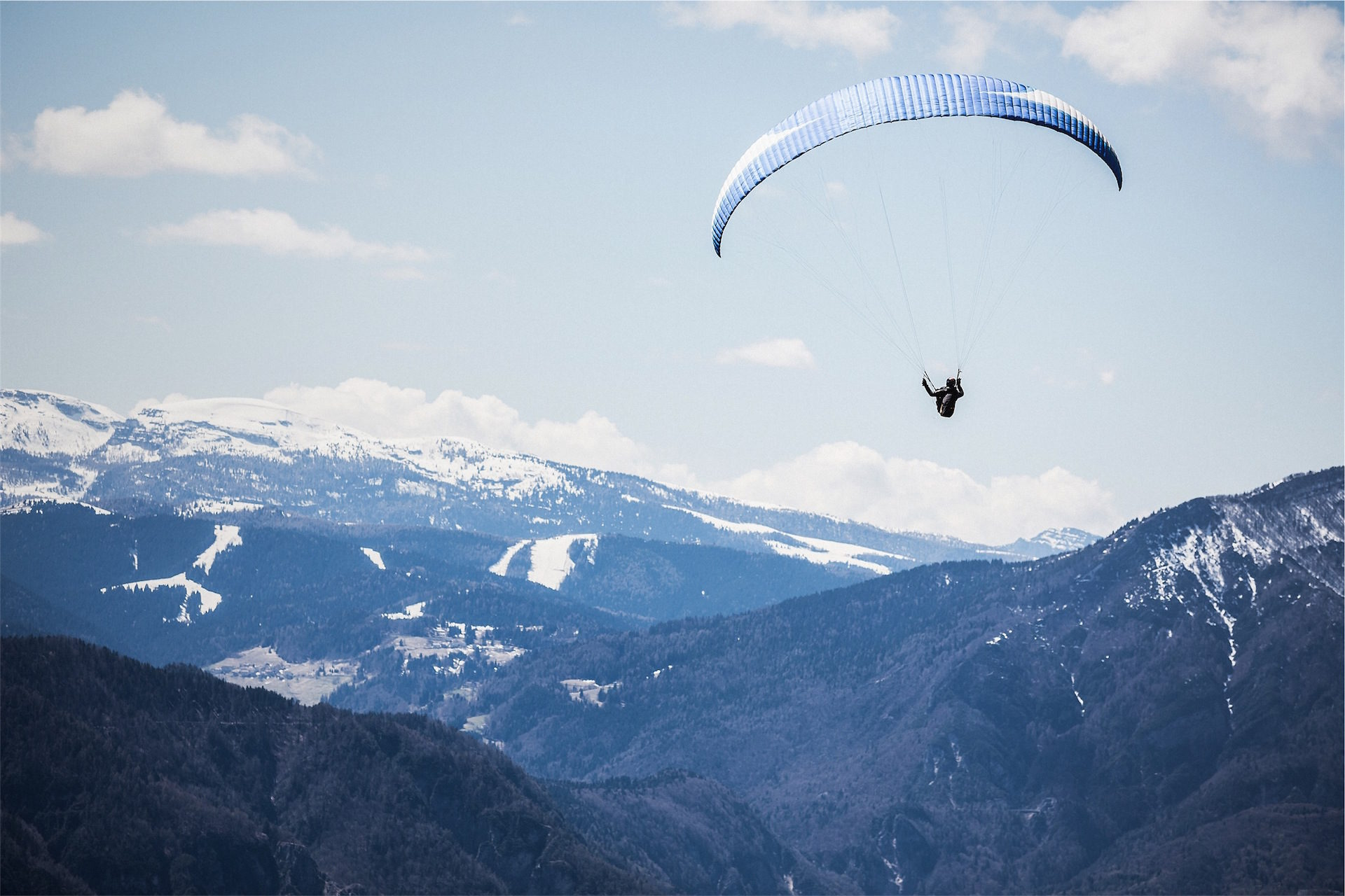 paracaidismo, paracaidas, 飛ぶ, 山, 空 - HD の壁紙 - 教授-falken.com