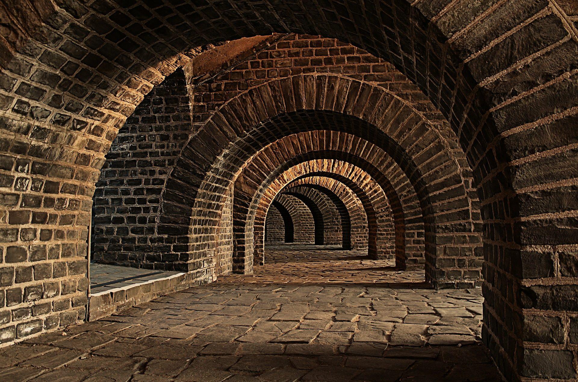 bóvedas, 隧道, 奇石, ladrillos, keller - 高清壁纸 - 教授-falken.com