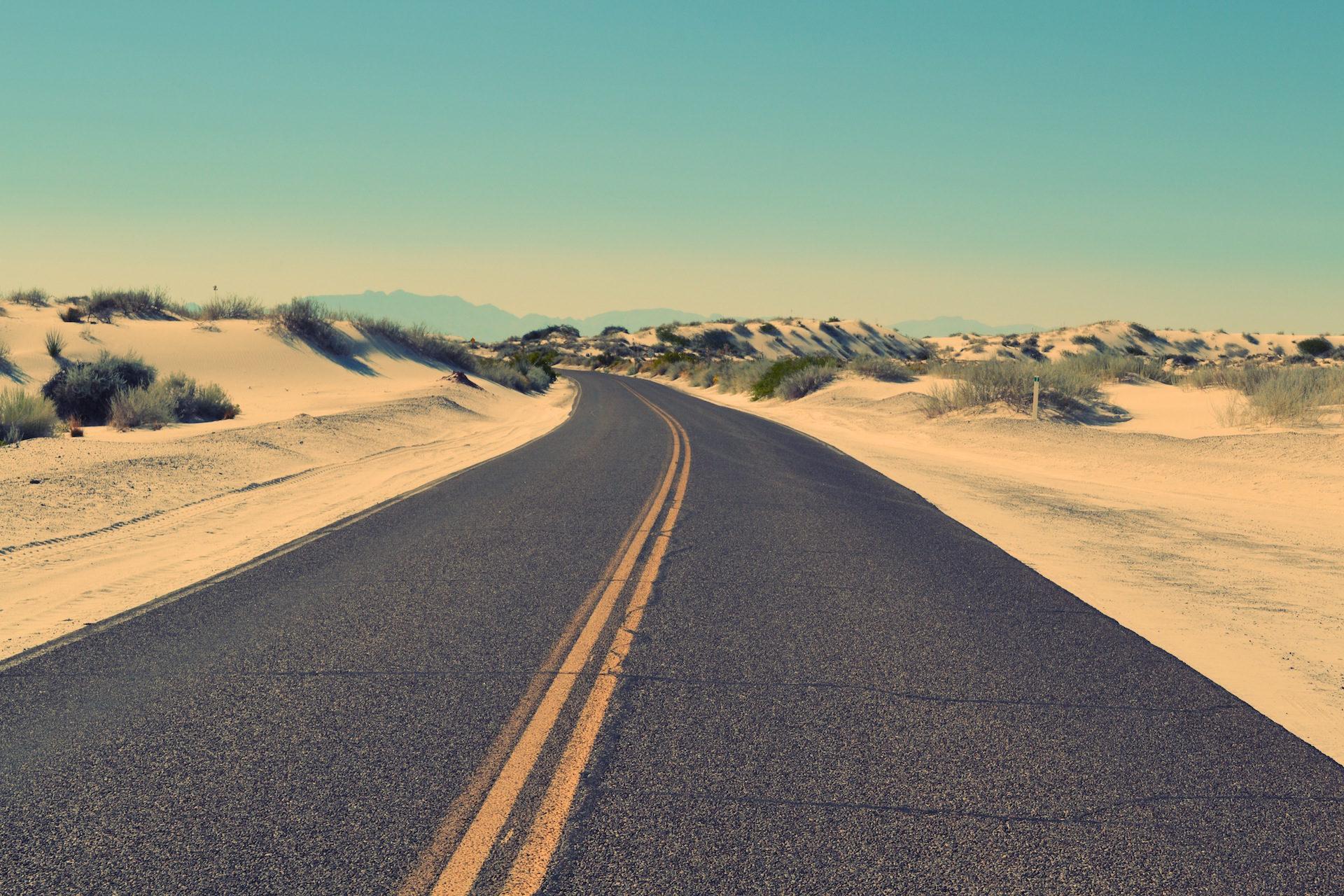 Route, asphalte, désert, sable, perdu - Fonds d'écran HD - Professor-falken.com