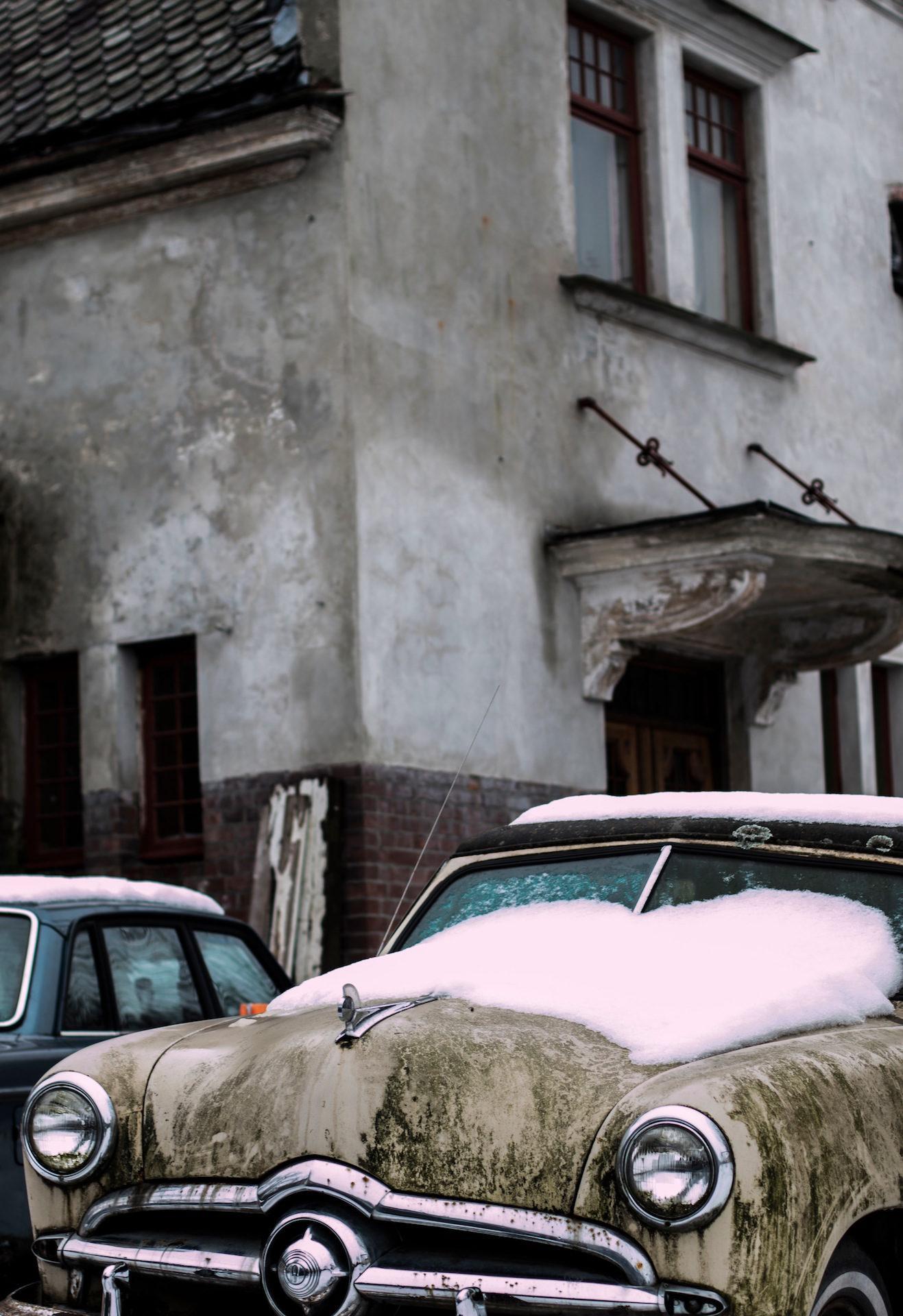 車, 雪, 家, 古い, ヴィンテージ - HD の壁紙 - 教授-falken.com