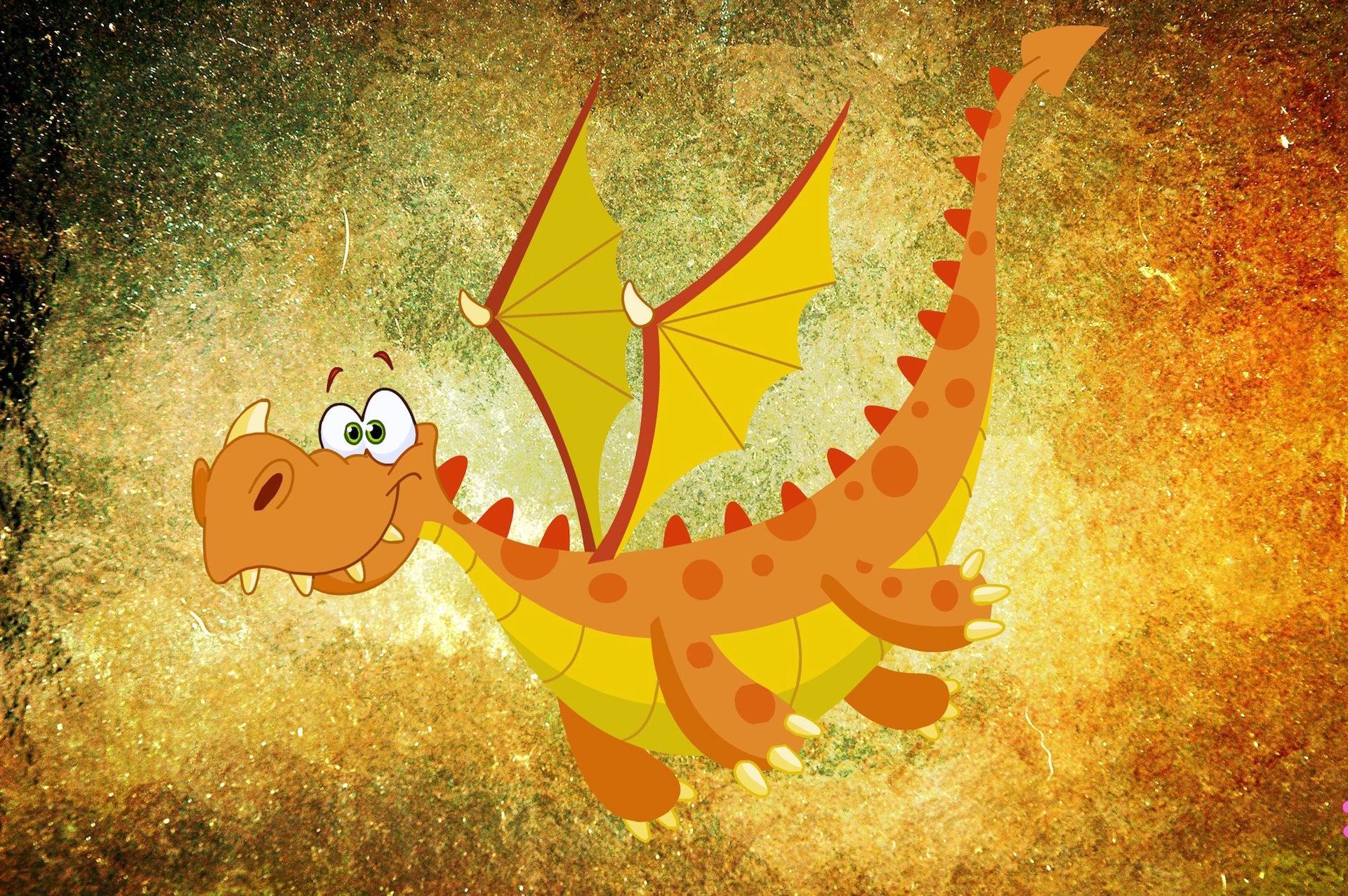 Dragão, comic, desenho, Monstro, asas - Papéis de parede HD - Professor-falken.com