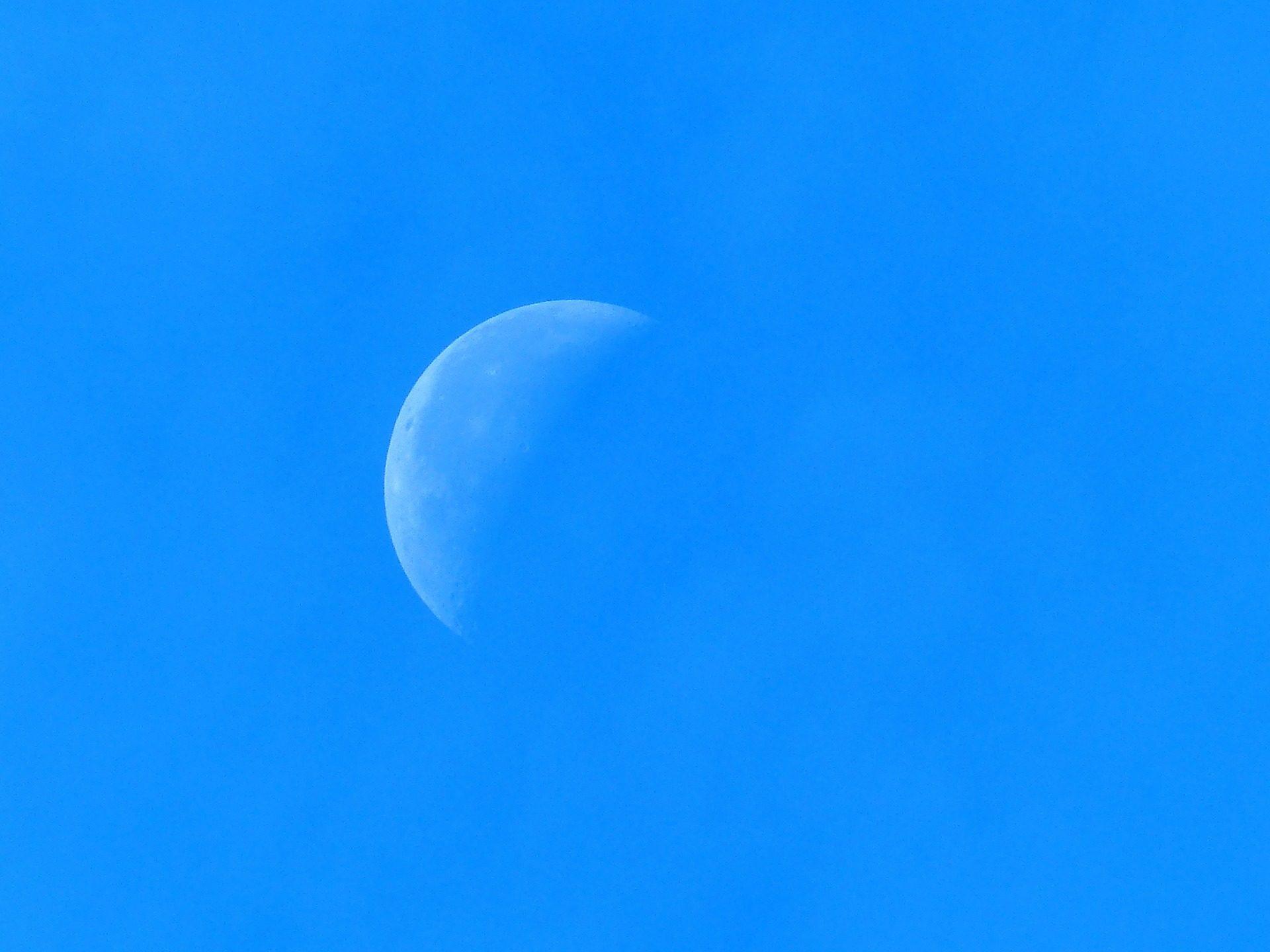 Lua, Céu, dia, Astro, crescendo - Papéis de parede HD - Professor-falken.com