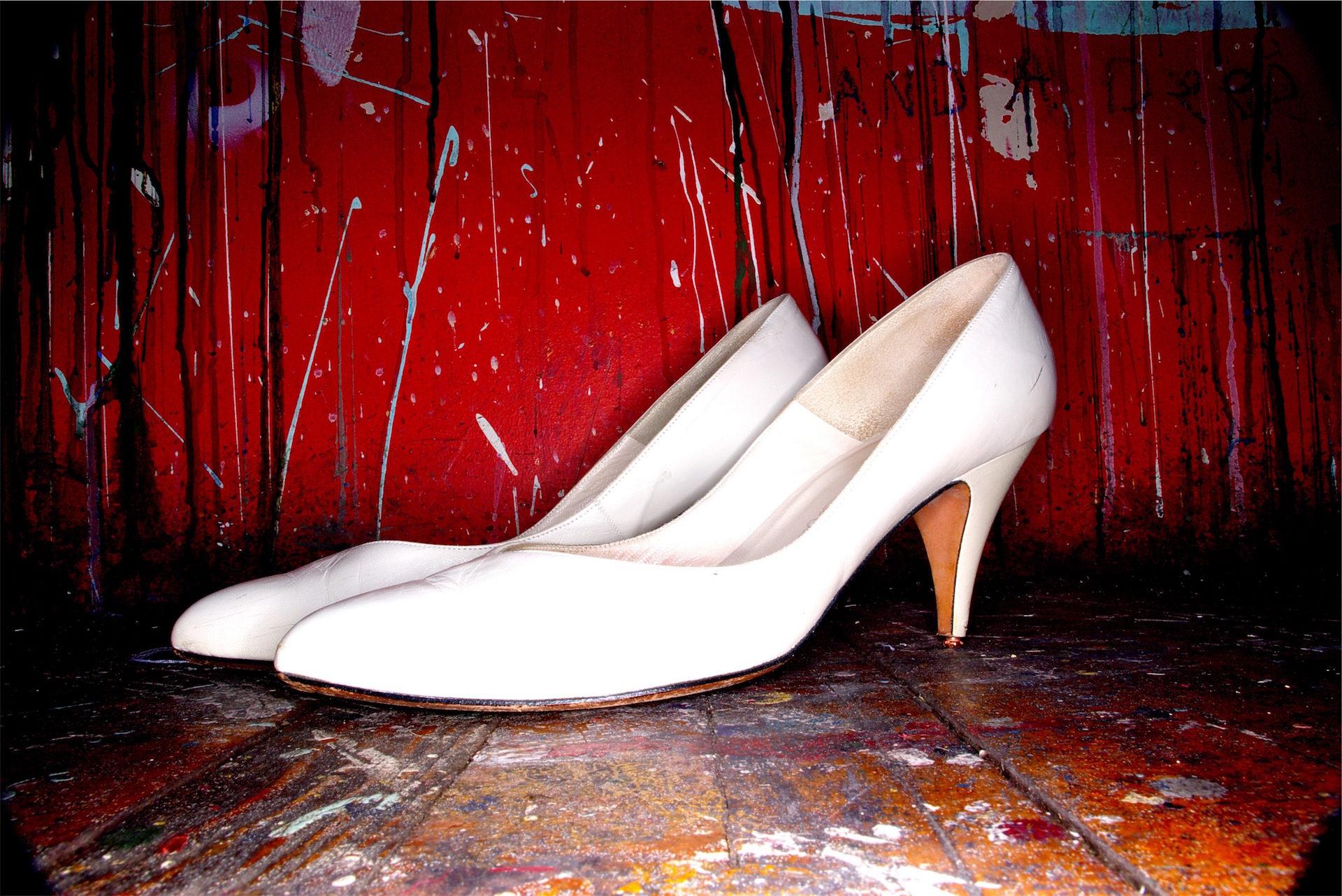 chaussures, les talons hauts, peinture, les taches, Blanc - Fonds d'écran HD - Professor-falken.com