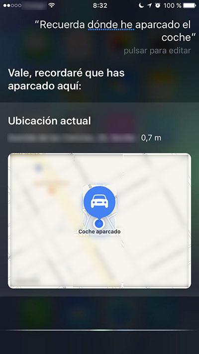 Comment faire Siri vous rappelez-vous où vous avez garé la voiture - Image 1 - Professor-falken.com