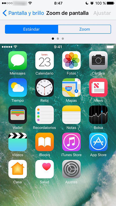 Cómo aumentar el tamaño de los iconos de tu iPhone - Image 3 - Professor-falken.com