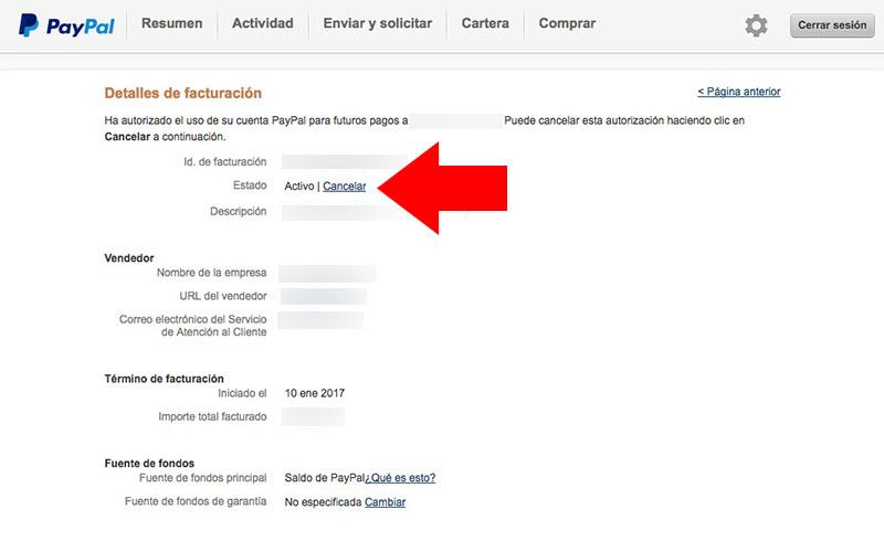 キャンセルまたは Paypal で定期支払いを無効にする方法 - イメージ 5 - 教授-falken.com