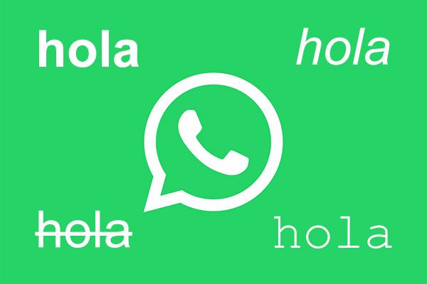Come inviare messaggi con un tipo di lettera diversa con WhatsApp - Professor-falken.com