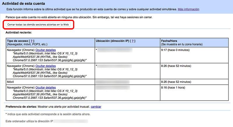 Comment fermer, à distance, Séances de Gmail ouvert sur vos appareils - Image 2 - Professor-falken.com