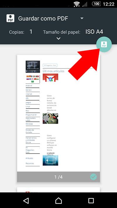 Como salvar uma página da web em formato PDF no seu Android - Imagem 4 - Professor-falken.com