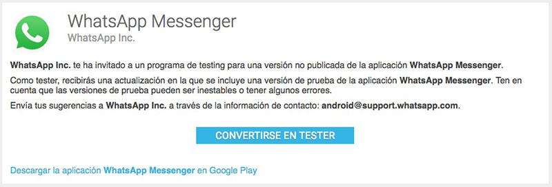 Come diventare un tester versioni beta o beta tester di WhatsApp - Immagine 1 - Professor-falken.com