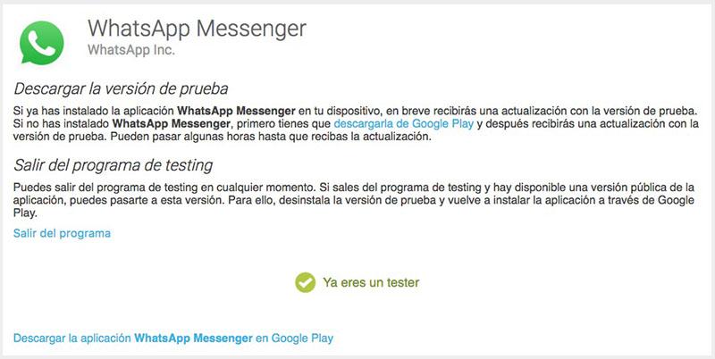 Come diventare un tester versioni beta o beta tester di WhatsApp - Immagine 2 - Professor-falken.com