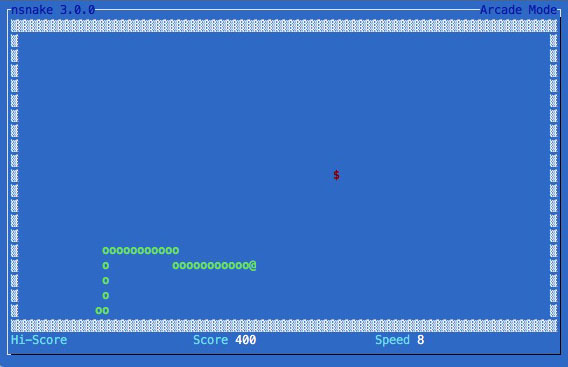 Come giocare il serpente da una finestra di terminale Linux - Immagine 2 - Professor-falken.com