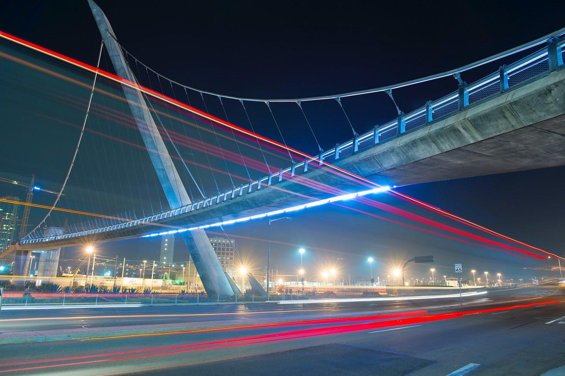 Ponte, luces, Città, luci, aloni, notte - Sfondi HD - Professor-falken.com